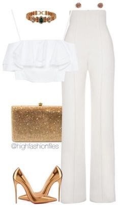 White And Gold Outfit Ideas whitegold fashion classy outfits chic outfits White And Gold Outfit Ideas. Here is White And Gold Outfit Ideas for you. White And Gold Outfit Ideas whitegold fashion classy outfits chic outfits. White Outfits, Classy Outfits, Casual Outfits, Classy Party Outfit, Date Night Outfit Classy, Beautiful Outfits, Mode Outfits, Fashion Outfits, Womens Fashion