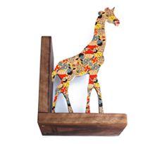 Adelaide giraffe bookend - Wolfum