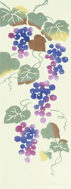 額装 葡萄