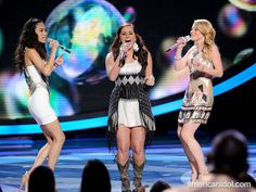 """Jessica, Skylar and Hollie perform """"(Your Love Keeps Lifting Me) Higher And Higher"""" by Jackie Wilson at the Top 5 performance show."""
