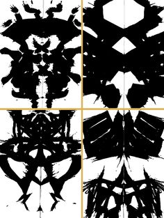 Rorschach prints - symmetrical balance