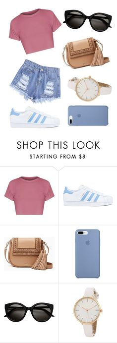 """""""Sans titre #44"""" by khlooe ❤ liked on Polyvore featuring adidas and Kate Spade"""
