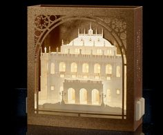 Pop Up Card / Budapest State Opera House / Hungary / Paper Cut / 3d card / Valentine's Day Cards / Gift for her / Gift for him