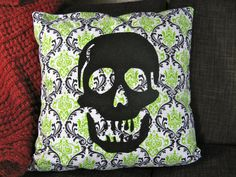 Decorative Skull Pillow