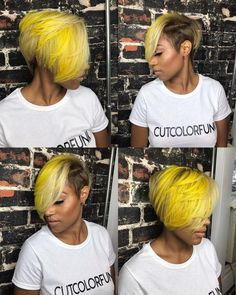 At Inflúance Hair Care we are dedicated to creativity, striving to provide innovative products promoting healthy hair. Short Weave Hairstyles, Shaved Side Hairstyles, Dope Hairstyles, My Hairstyle, Medium Hairstyles, Wedding Hairstyles, Short Sassy Hair, Girl Short Hair, Short Hair Cuts