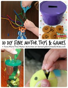 10 DIY Fine Motor Toys and Games + Tons More Fine Motor Activities at SensoryActivitiesforKids