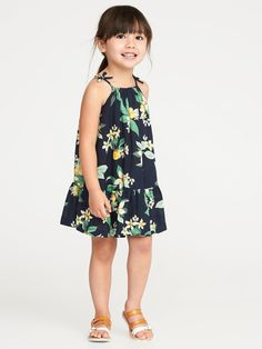 Tiered Floral-Print Sundress for Toddler Girls|old-navy