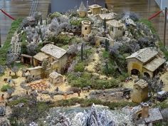 Fontanini Nativity, Clay Fairy House, Coin Couture, 40k Terrain, Clay Fairies, Christmas Villages, Noel Christmas, Corn Husking, Diorama