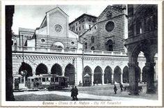 Genova -  Chiese di Santo Stefano...quando ancora erano in piedi entrambe