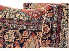 Faharan rug Pillows $1250.00 pair--Exact same as mine -------------------------------------- Farhan rug pillow $1250.00 pair -------EXACT PILLOWS I SOLD TO FRANCES-------⬇️See link ................................................... Antique Persian Faharan Pillow,  Persian Rug fragment Pillow,  Farhan rug pillow, textiles, rug pillows, inventory textiles, mine, sold, pricing, price comps, mine LK,   $1250.00 pair