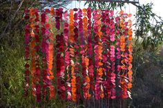 Wax Paper Dot garland (possibly for the ceremony at the altar?)  DIY Wedding and Ceremony Decor Pictures