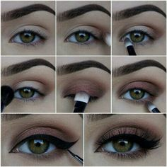 Copper smokey eye with wingles liner step by step!