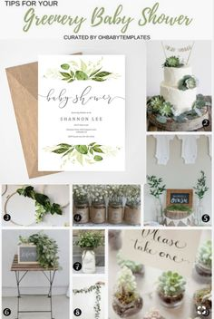 Greenery Baby Shower ideas, printable baby shower invitation, succulent shower f. - Greenery Baby Shower ideas, printable baby shower invitation, succulent shower f… – - Boho Baby Shower, Baby Shower Elegante, Elegant Baby Shower, Gender Neutral Baby Shower, Girl Shower, Baby Shower Favors, Rustic Baby Shower Invites, Baby Shower Green, Burlap Baby Showers