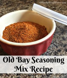 Old Bay Seasoning Mix Recipe. DIY {Copy Cat} Old Bay Seasoning Recipe . Old Bay Lemon Pepper Seasoned Pretzels . These seasoned pretzels are an easy appetizer. Homemade Spice Blends, Homemade Spices, Homemade Seasonings, Spice Mixes, Homemade Old Bay Seasoning Recipe, Rub Recipes, Dog Food Recipes, Cooking Recipes, Drumstick Recipes