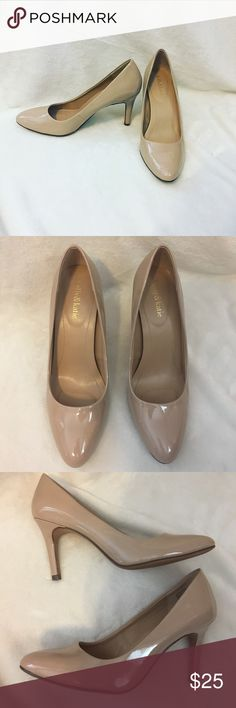 Kelly and Katie Nude Heels Kelly and Katie 3 1/2 Nude heels • only have been worn once! • no scuffs or marks • women's 9 1/2 • offers are welcome! Kelly & Katie Shoes Heels