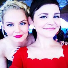 Jennifer Morrison & Ginnifer Goodwin- seriously beautiful. I love them & I LOVE Once Upon a Time!!