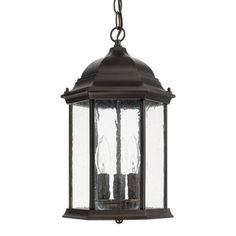 Hidden Hill 8 Wide Foggy Rust Iron Outdoor Hanging Light