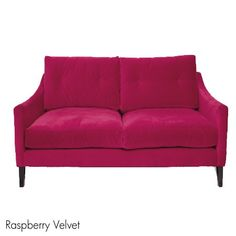 Dream Velvet Sofa In Raspberry.