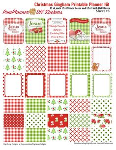 Gingham Christmas Printable MEGA Planner Kit by DigiScrapDelights