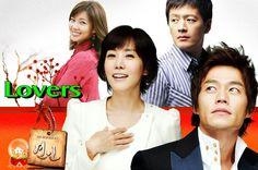 7 of 10   Lovers (2006) Korean Drama - Romantic Melodrama   Lee Seo Jin & Kim Nam Gil