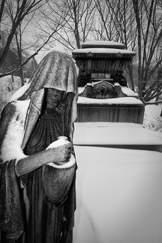 Lakeview Cemetery - Winter Statues 1 by rsmith179, via Flickr