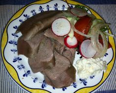 Russian Beef Tongue – dare to try it - if you can't stand it, look away ;) I grew up eating beef tongue, similar to this recipe - delicious and low carb!