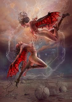 Blood Zodiac. Gemini II by Vasylina.deviantart.com on @DeviantArt