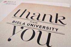 Thank You Cards by Jeffrey Hiendarto, via Behance