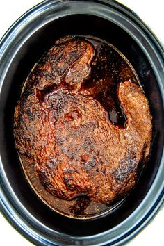 """Wonderfully juicy, flavor exploding, melt-in-your-mouth Slow Cooker Beef Brisket is """"better than any restaurant"""" according to my food critic husband! Beef Brisket Recipes Crockpot, Beef Brisket Slow Cooker, Slow Cooker Barbecue Ribs, Bbq Brisket, Crock Pot Slow Cooker, Crock Pot Cooking, Slow Cooker Recipes, Crockpot Recipes, Cooking Recipes"""