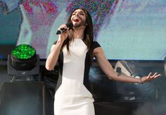 Conchita Wurst with Clay Paky B-EYE