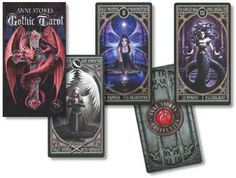 Gothic tarot deck The Gothic Tarot deck features the vivid and beautiful illustrations of the famous artist, Anne Stokes to help you find answers and unlock dark secrets.