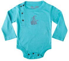 "Finn + Emma ""Bachelor Button Blue"" Organic Bodysuit"