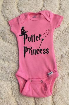 Your place to buy and sell all things handmade Baby Harry Potter, Harry Potter Baby Clothes, Harry Potter Baby Shower, Girl Onsies, Onesies, Baby Shirts, Baby Onesie, Baby Princess, Baby Girl Newborn