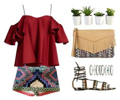 """""""Casual : Chic Ethnic"""" by stevie-pumpkin ❤ liked on Polyvore featuring Flying Tomato, Anna October, Valentino, Accessorize, Aimee Kestenberg, chic, ootd, ethnic and polyvoreeditorial"""