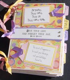 Birthday & Anniversary Reminder Envelope mini book // Simply Elegant Paper Crafts