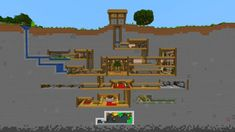 Made a villager ant farm to see if they would like it : Minecraft Pixel Art Minecraft, Plans Minecraft, Villa Minecraft, Capas Minecraft, Minecraft Building Guide, Cute Minecraft Houses, Minecraft Houses Survival, Minecraft Houses Blueprints, Minecraft Room