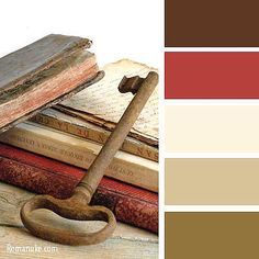 Simple and elegant, all time classic - red, brown, cream