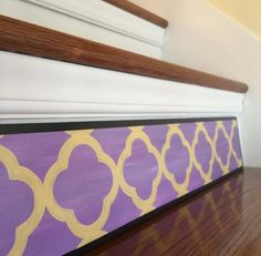 Stair Riser Art Plaque from Tribute Designs on Etsy, part of the hand-painted '4 Petal Moroccan Collection.' $25.00 each, use code GRANDOPEN25 to receive 25% off a $75 or more purchase at checkout! Visit us today: http://www.tributedesigns.etsy.com