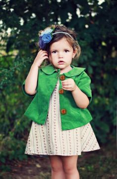 Molly Jacket PDF Pattern & Tutorial, All sizes 2t-10 years included. $10.95, via Etsy.