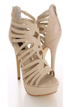 beige shoes heels - Google Search