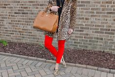 Sweets and Style Just Right: Red x leopard