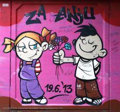 Beogradski grafiti.: Za Anju #Beograd #Belgrade #Graffiti #Grafiti #StreetArt