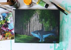 Fantasy forest painting on canvas Forest Painting, Fantasy Forest, Acrylic Painting Canvas, My Etsy Shop, Instagram Posts, Art, Art Background, Kunst, Forest Pictures