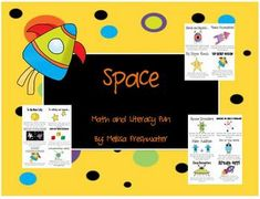 Space Theme 20 activities (10 math 10 literacy)