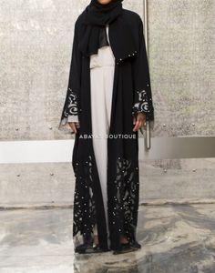 New Lavish Flutter Open Abaya Abaya Fashion, Modest Fashion, Fashion Outfits, Hijab Dress, Hijab Outfit, Abaya Designs Latest, Hijab Collection, Office Fashion, Instagram Fashion