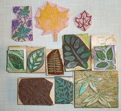 handcarved stamps!