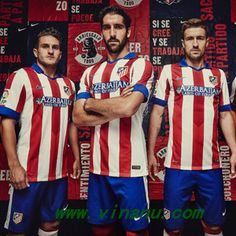 06fc190da The Atlético Home Shirt features a classical kit design. The Atlético  Madrid Away Shirt features different shades of gray and red ...