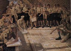 Commanders and Senior Staff Officers of the 51st Highland Division. Planning the Battle of El Alamein, October 1942.