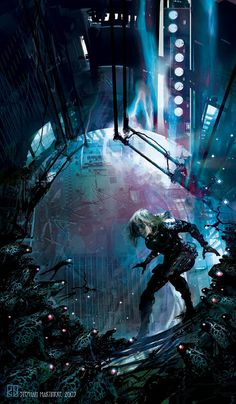 Cyberpunk digital art of Stephan Martiniere