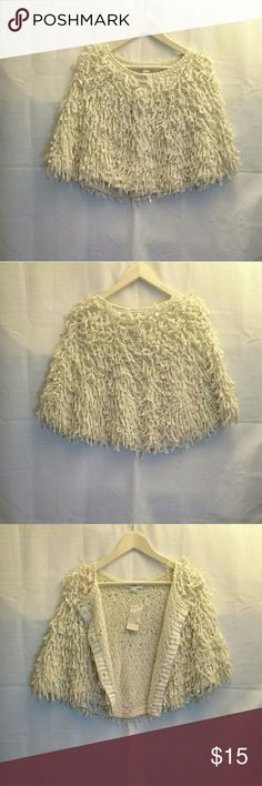 Forever 21 Ivory Poncho Size Small Brand new with tag. Never worn it before. Forever 21 Other